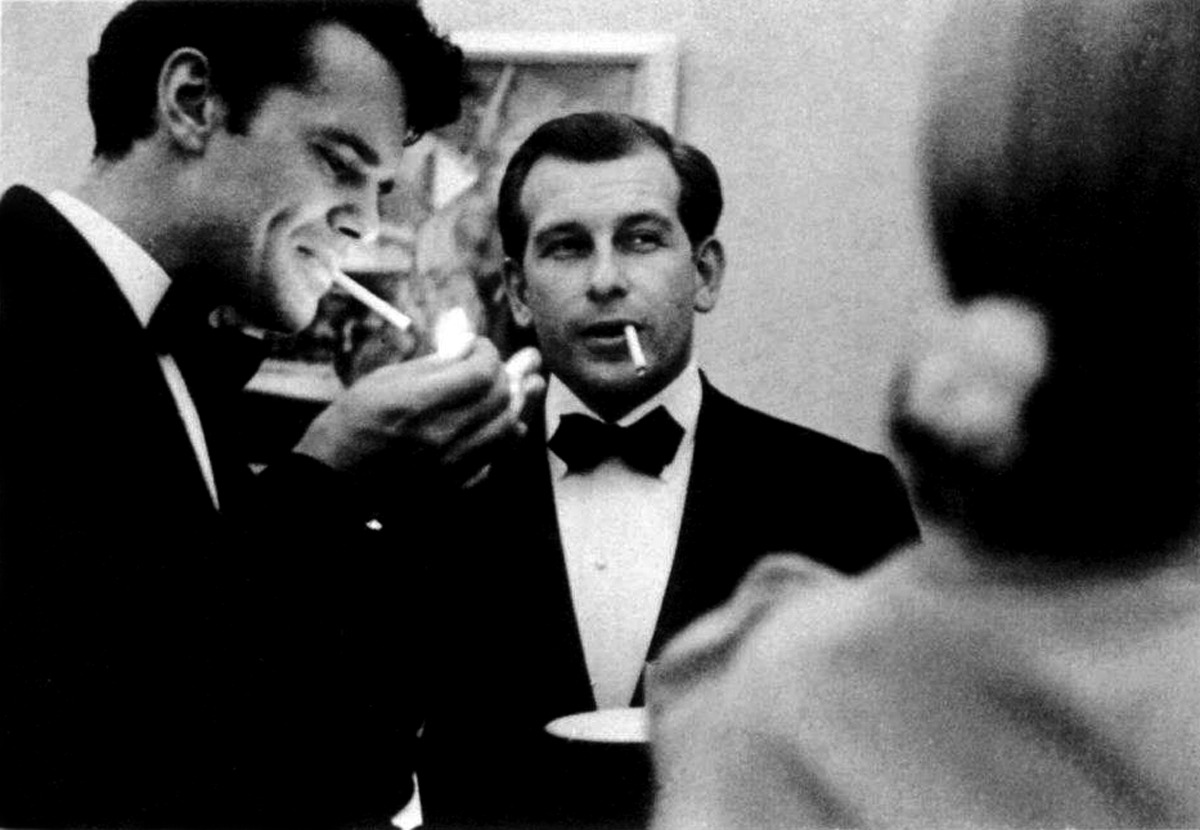 Charles Eames and Eero Saarinen at a Cocktail Party