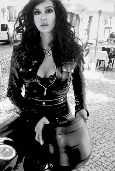 Monica Bellucci in BELSTAFF Leather Catsuit