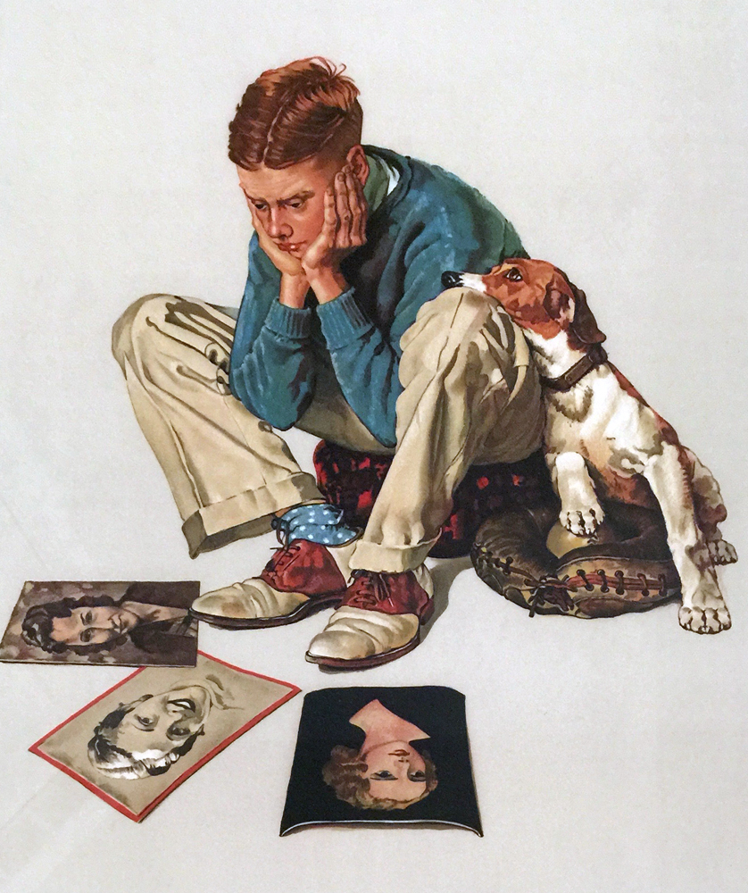 Norman Rockwell boy reading