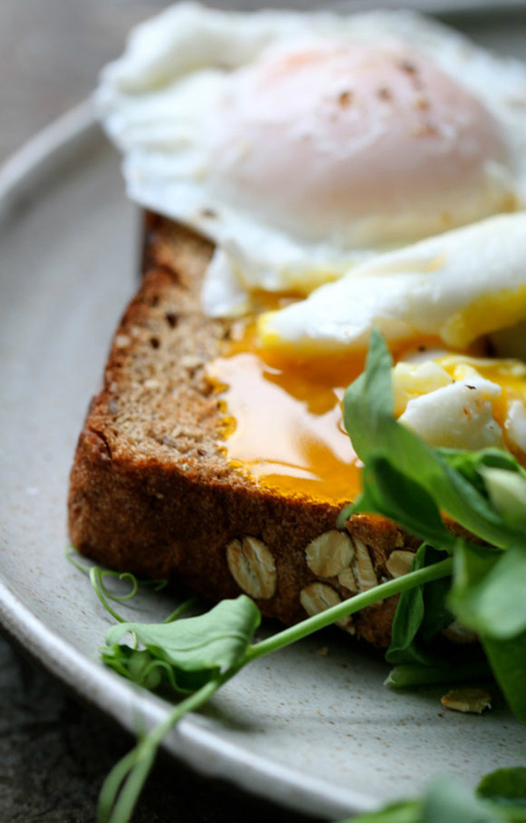 breakfast with poached egg