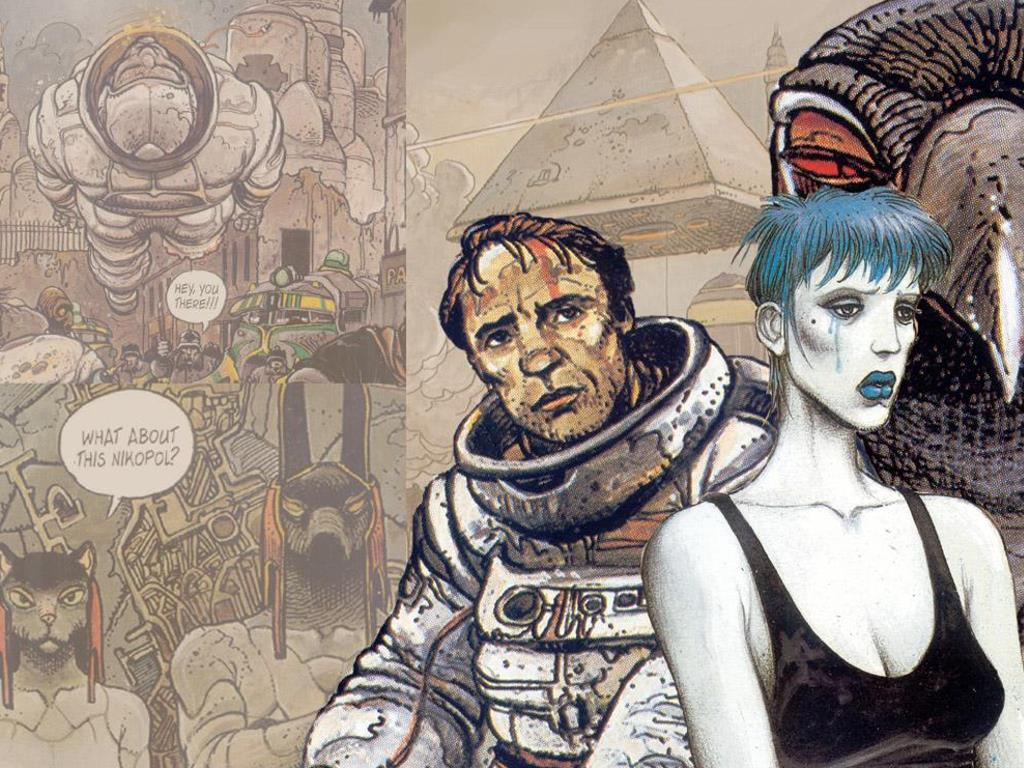 """Nikopol Trilogy"" comic art by Enki Bilal"