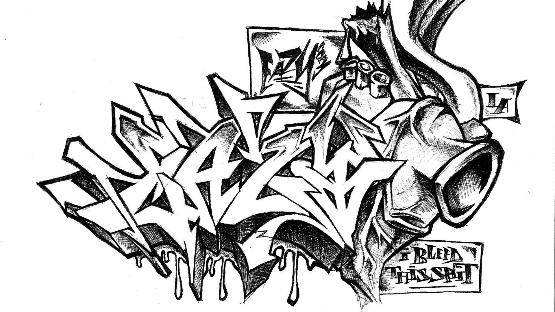 Graffiti 3d style bleed this s