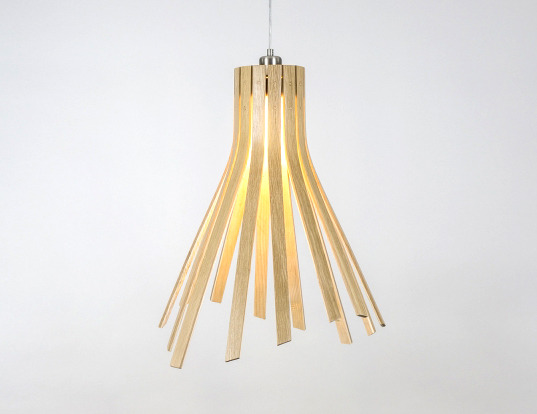 Flux Pendant Light Tom Raffield