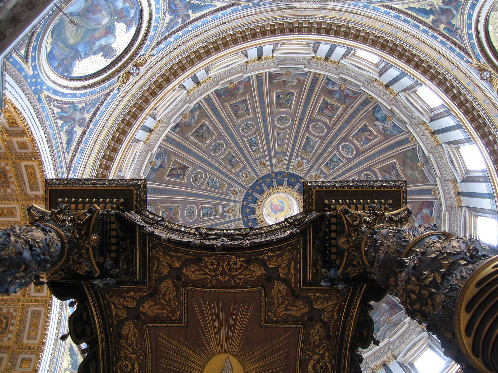 saint peter's basilica cathedral roof