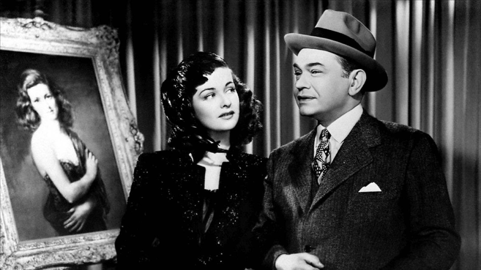 edward g. robinson & joan bennett in The Woman in the Window
