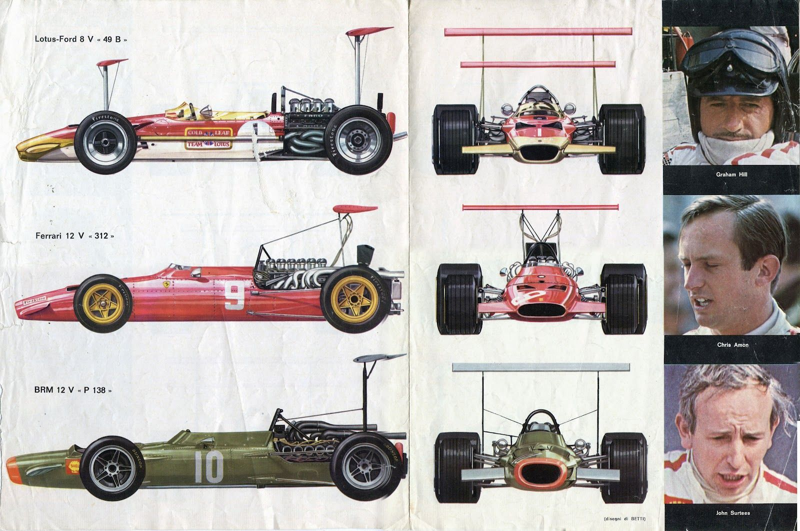 f1 1969 drivers and cars