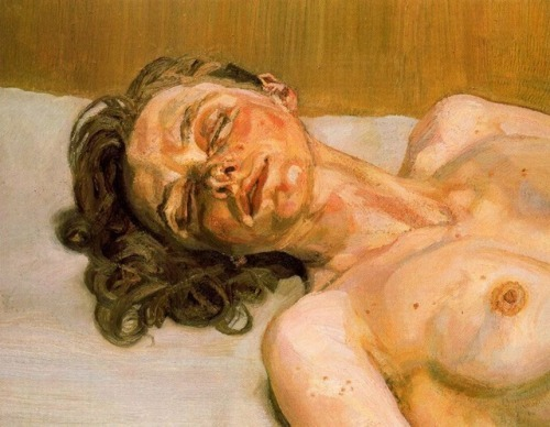 Girl with closed eyes, Lucian Freud