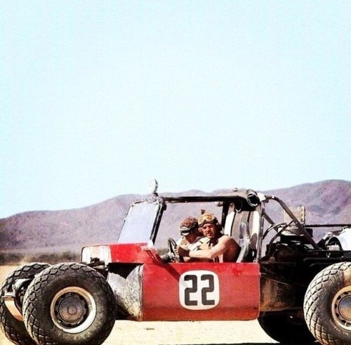 mcqueen driving a beach buggy