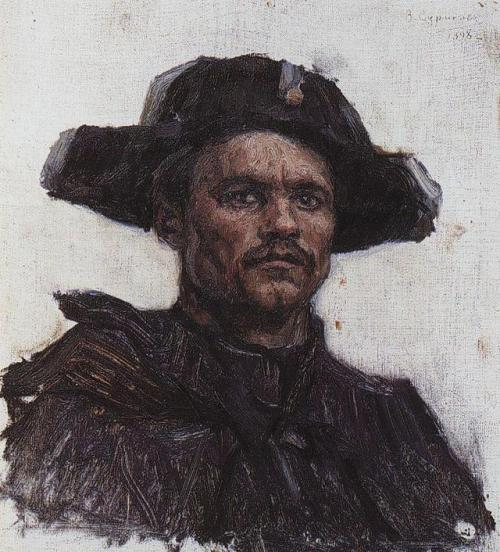 The head of soldier-drummer, Vasily surikov