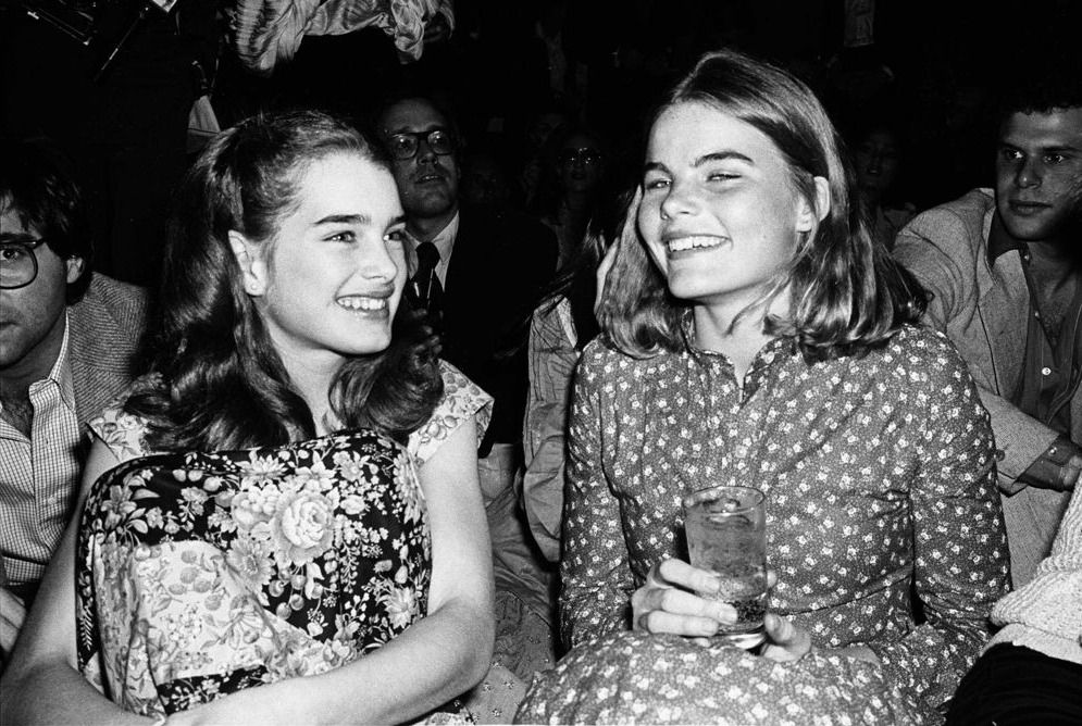 Brooke Shields and Mariel Hemingway at Studio 54