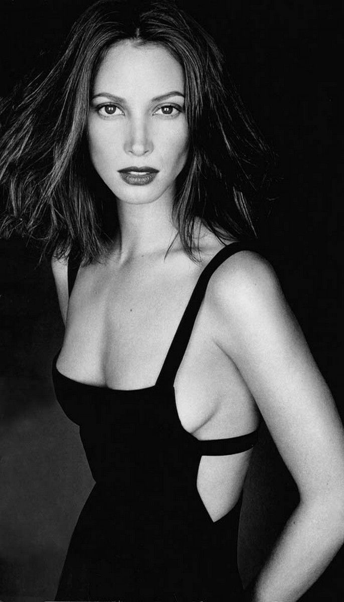 Christy Turlington evening gown