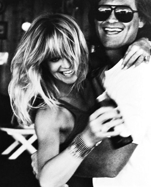 Goldie Hawn & Kurt Russell by Herb Ritts