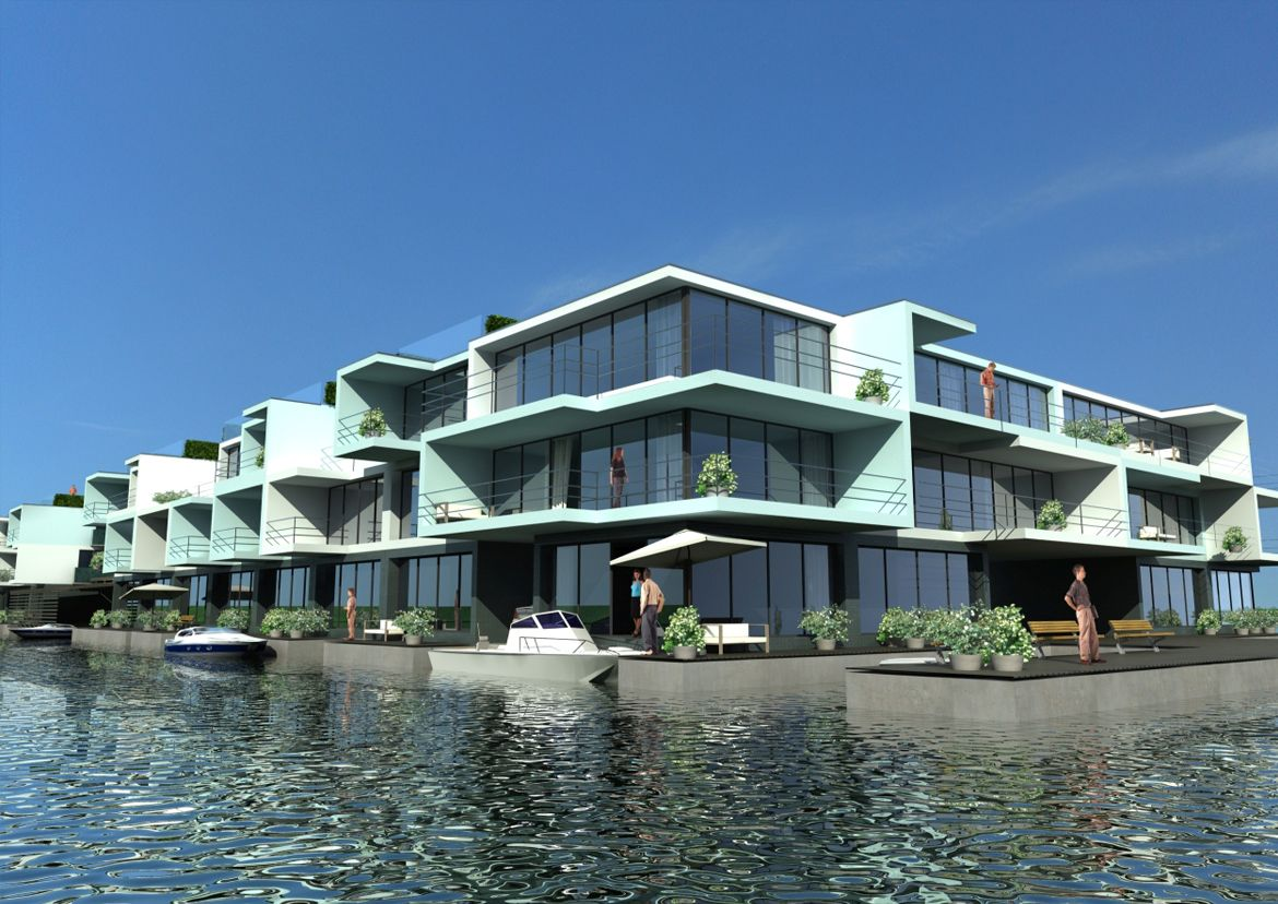 the-citadel-a-floating-apartment-complex-in-netherlands