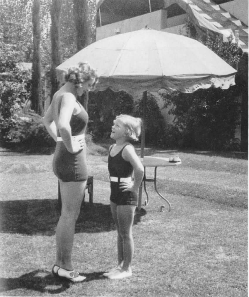 Marlene Dietrich and her daughter Maria