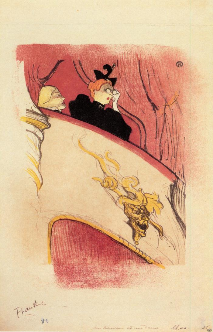 The Box with the Guilded Mask,  Toulouse-Lautrec
