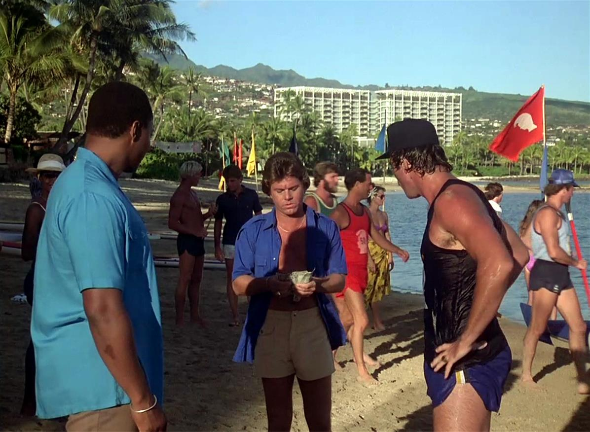 Tom Selleck, Roger E. Mosley & Larry Manetti at the King Kamehameha Club