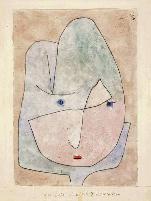 klee-  This flower wishes to fade, Paul Klee