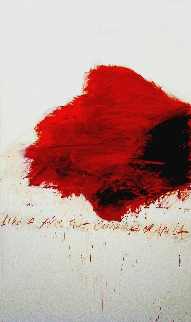 Cy Twombly, Like a fire that consumes all before it