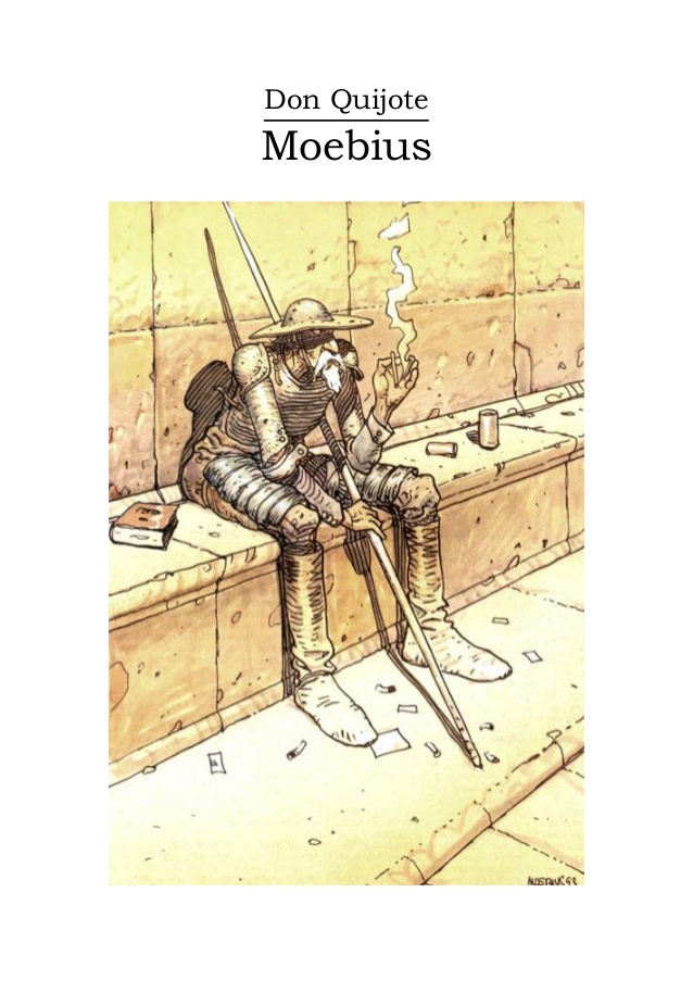 Don quixote by Mœbius