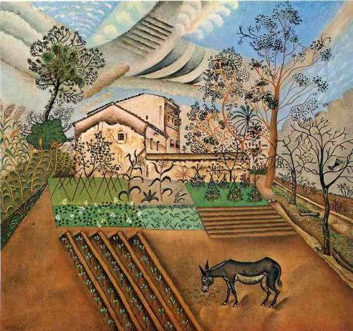 The Vegetable Garden with Donkey, Joan Miro