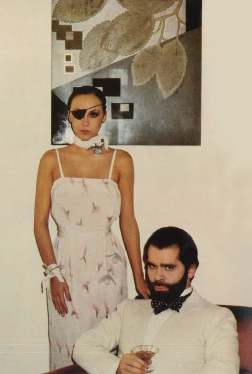 Marie Helvin and Karl Lagerfeld by David Bailey