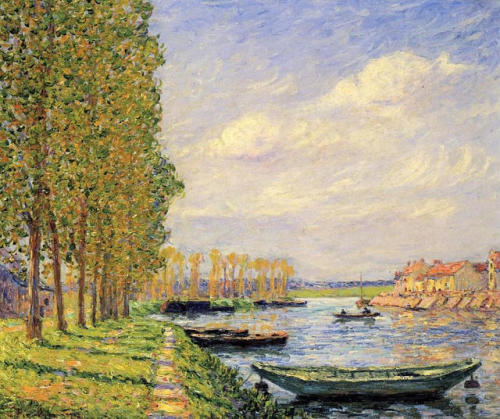 A Canal at St. Mammes, Francis  Picabia
