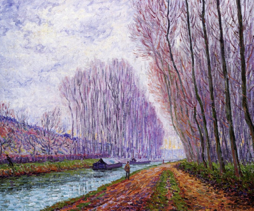 Barges on the Loing, Morning Effect, 1904, Francis  Picabia