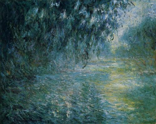 Claude Monet  Morning on the Seine in the Rain
