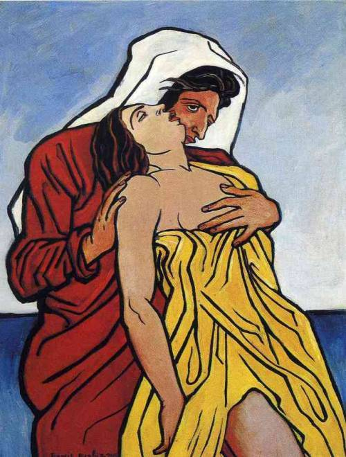Man and woman by the sea, Francis  Picabia