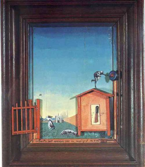 Two Children are Threatened by a Nightingale, Max Ernst