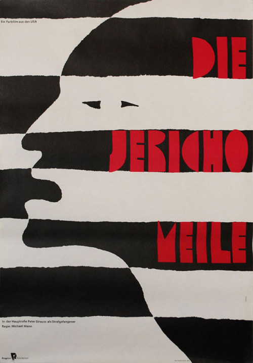 German poster for THE JERICHO MILE  Michael Mann