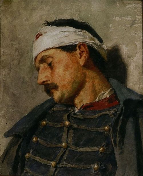 Albert anker     Wounded Soldier