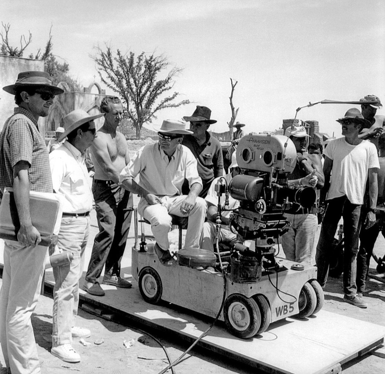 behind the scene at The Wild Bunch (1969)