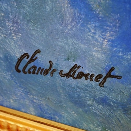 Claude Monet     Detail of signature  Water