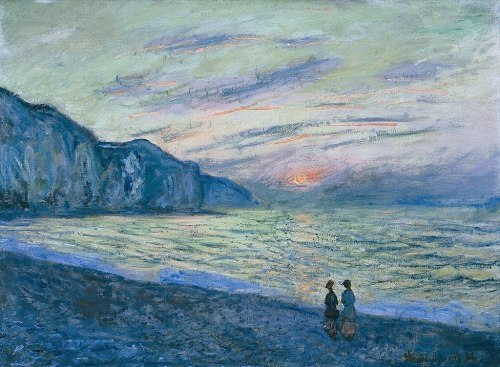 Claude Monet  Sunset at Pourville