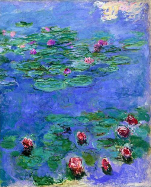 Claude Monet  Water Lilies, Red