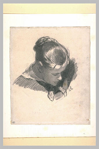 Head of a Young Woman, Leaning Three-quarters Right by Honore Daumier