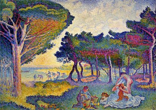 Henri Edmond Cross     By the Mediterranean