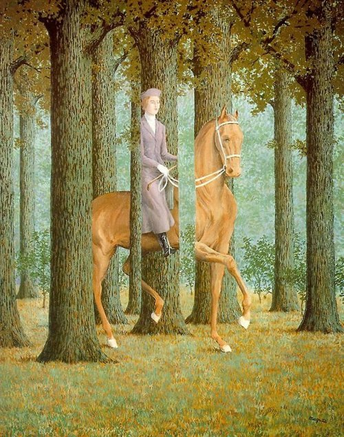 Rene magritte    The blank signature
