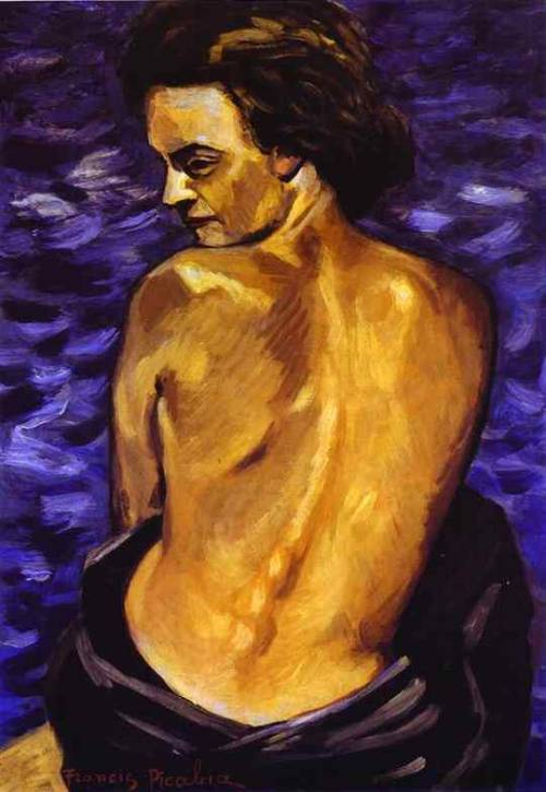 Nude from Back on a Background of the Sea, Francis  Picabia