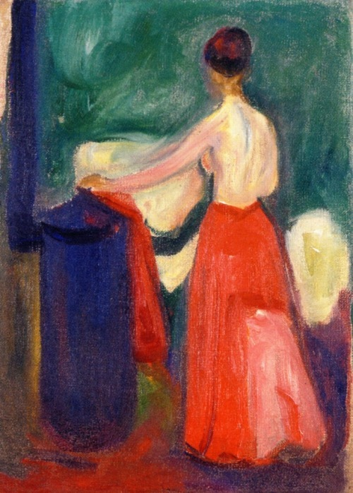 Nude with Red Skirt~Edvard Munch