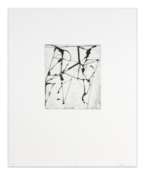 Brice Marden, Etchings to Rexroth, 10, 1986