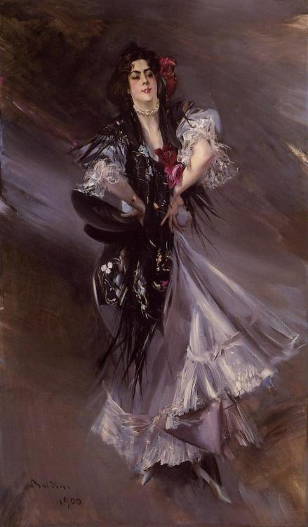 Portrait of Anita de la Ferie – The Spanish Dancer