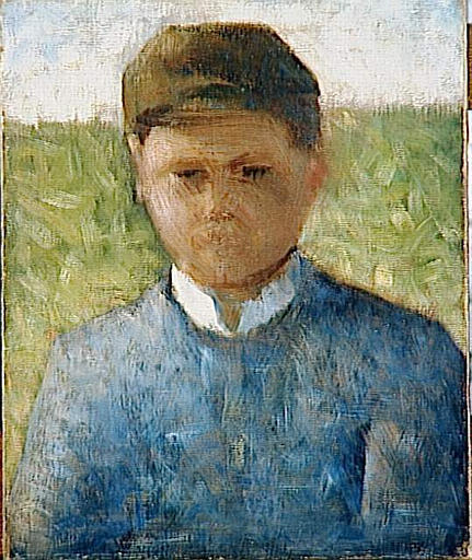 Young Peasant in Blue, Georges Seurat