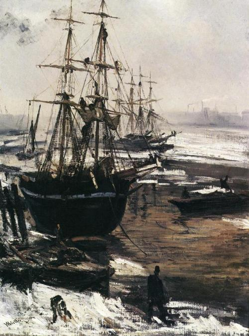The Thames in Ice, 1860 James McNeill Whistler