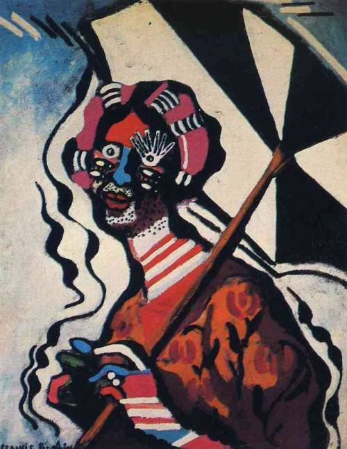 Young Woman with an Umbrella, Francis Picabia