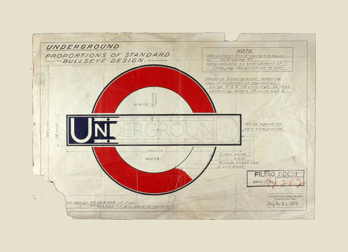 london underground bullseye design