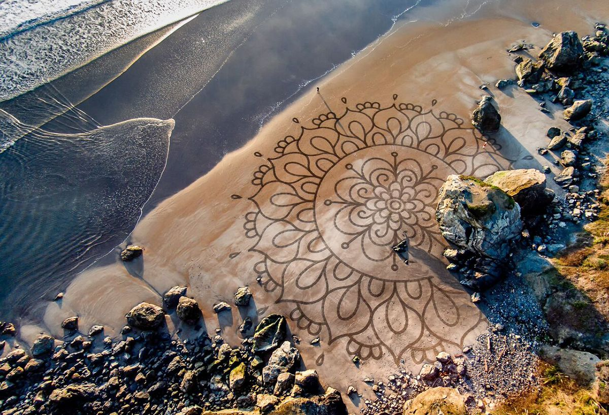 Andres Amador Patterns on the Beach